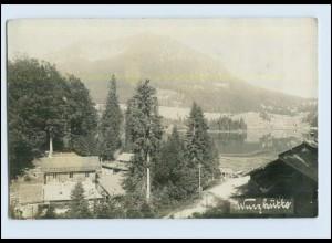 P3E89/ Wurzhütte am Schliersee Foto AK ca.1912