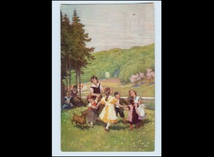 Y11910/ Paul Hey - Verein für das Deutschtum AK Volksliederkarte 1915