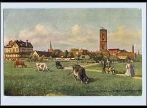 A3503-2972/ Borkum Dorf mit Leuchtturm Tuck`s AK ca.1910