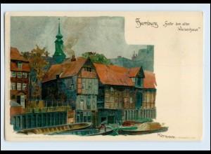 W7U57/ Hamburg schöne Künstler Litho AK Kley Verlag: Velten ca.1900
