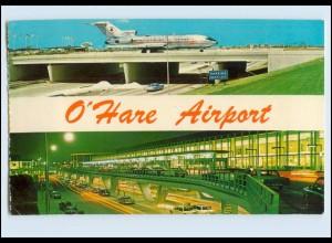 Y11909/ Chicago O`Hare Airport Flughafen Flugzeug PAN AM AK 1970 USA