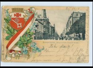 A5685/ Bremerhaven schöne Litho Präge Wappen AK 1902