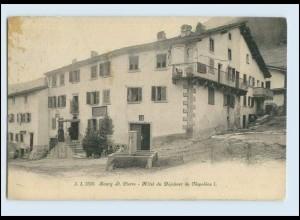 W7W76/ Bourg St. Pierre Hotel du Dejeuner de Napoleon I. AK 1913