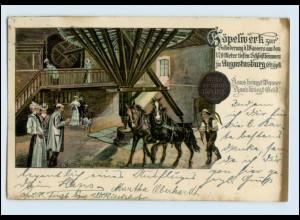 W8C79/ Augustusburg Erzgeb. Göpelwerk AK 1907