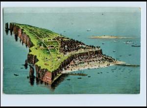 A6301/ Helgoland Reliefdruck AK 1911