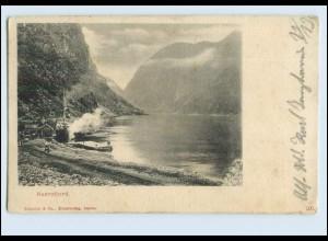 W7Y86/ Naerofjord Norwegen 1915 AK