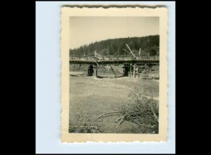W7Y30/ Brücke bei Sanok Polen zerstört Original Foto ca.1940 2. Weltkrieg