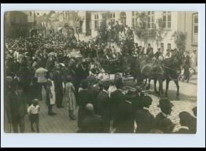 W8Y48/ Flensburg ? Umzug Foto AK 1926