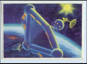 W7Z63/ Raumfahrt Raumstation Rußland AK 1966 Zukunft