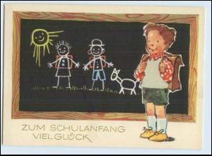 W7Z55/ Einschulung Kind Schultafel schöne AK 1962 Schule