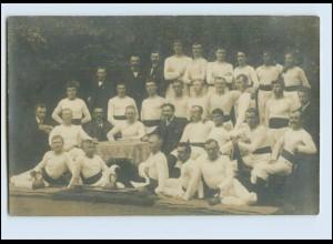 W8C38/ Turner Männer-Turnriege Foto AK Stempel: Einswarder Oldenburg 1909