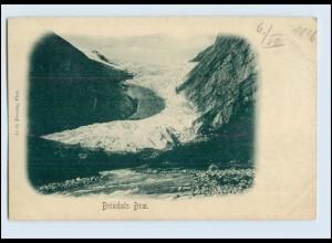 W8B19/ Brixdals Brae Gletscher Norwegen AK ca.1900