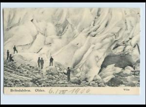 W8B20/ Briksdalsbrae Olden Gletscher Norwegen AK 1906