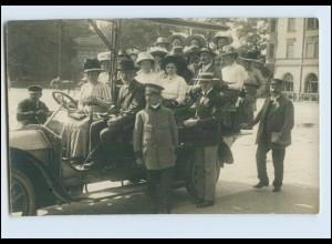 W8B33/ München Fremdenrundfahrten Foto AK ca.1912