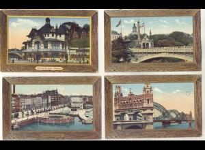 P3J01/ 10 schöne Hamburg AK Heliocolorkarten von Ottmar Zieher 1910