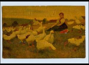 P3J30/ Degi Gemälde AK Nr. 407 Gänseliesel ca.1920