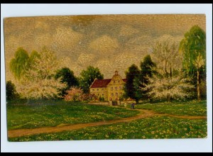 P3J24/ Degi Gemälde AK Nr. 1083 Im Schloßgarten ca.1925