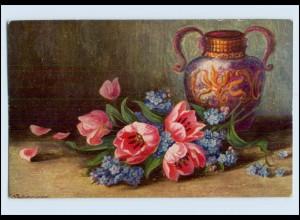 P3J11/ Degi Gemälde AK Nr. 1141 Frühlingsblumen ca.1925