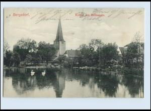 P3J55/ Hamburg Bergedorf Kirche am Billbassin AK 1909