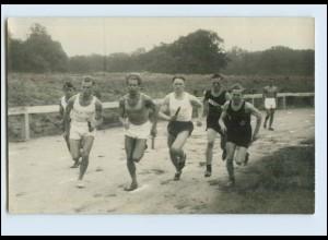 P3J52/ Staffellauf Leichtathletik Sport Foto AK Fotograf: Uhlich Leipzig ca.1930