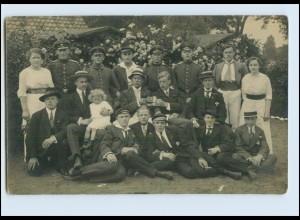 W8D73/ Buxtehude Studenten und Soldaten Privat Foto AK 1915