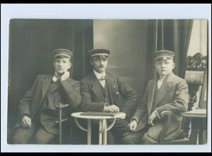 W8D69/ Studenten Foto AK Buxtehude 1912