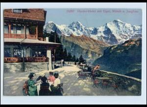 P3L26/ Harder-Hotel mit Eiger, Mönch und Jungfrau Schweiz AK ca.1910