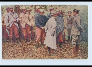 P3L44/ Der europäische Krieg 1914/16 französ. Kriegsgefangene AK 1. Weltkrieg