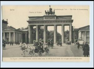 P3L88/ Berlin Brandenburger Tor Kutschen AK ca.1910