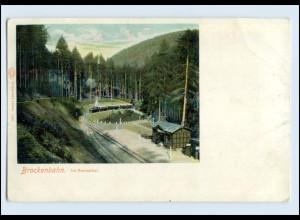 P3L85/ Wernigerode Rennethal Brockenbahn Harz schöne AK ca.1900
