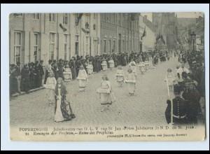 W8G77/ Poperinghe Jubelfesten van O.L.V. Belgien AK 1914