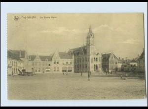W8G79/ Poperinghe De Groote Markt Belgien AK 1917