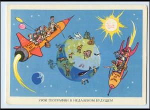 A7638/ Raumfahrt Rußland Zukunft 1961 keine AK