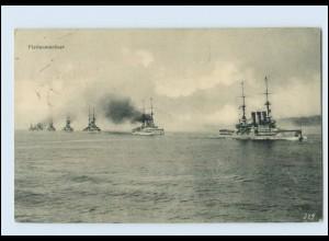 W8G44/ Flottenmanöver Kriegsschiffe AK 1914