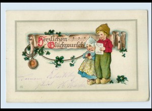 W8L51/ Glückwunsch Litho AK Kinder 1916