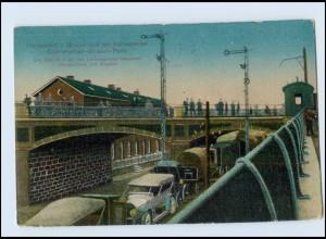 W8P07/ Herbesthal Lontzen Eupen Grenze Belgien Deutschland AK Eisenbahn 1915