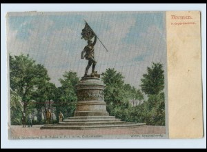 A8624/ Bremen Kriegerdenkmal imit. Seidenkarte AK 1906
