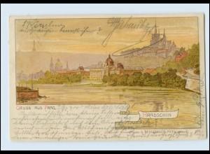 W8Q52/ Gruß aus Prag Hradschin Litho AK Verlag: Neugebauer 1900