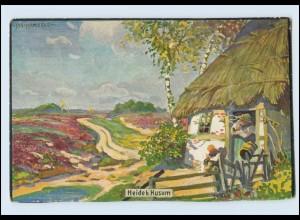 W8R24/ Heide bei Husum Künstler AK Jan Hamkens 1910