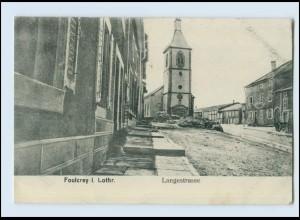 W8R86/ Foulcrey in Lothringen Langestr. AK 1917