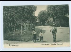 A9020-2070/ Ahrensburg Beim Kaiser Wilhelm Denkmal AK ca.1910
