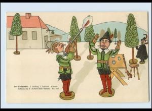 W8V31/ Oper - Der Freischütz Litho AK ca.1900 Holzfiguren, C. M. von Weber