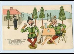 W8V27/ Oper - Der Freischütz Litho AK ca.1900 Holzfiguren, C. M. von Weber