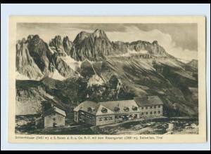 A9226/ Schlernhäuser mit Rosengarten Dolomiten AK Italien ca.1912