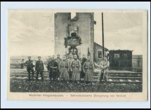 A9644/ Bahnschutzwache Belagerung von Verdun 1.Weltkrieg AK Frankreich 1914