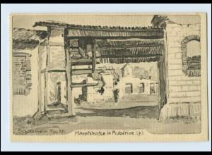 A9636/ Auberive Hauptstr. AK zerstört 1.Weltkrieg AK Frankreich 1916