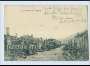 A9634/ Dorfstr. in Lpoupmont 1.Weltkrieg AK Frankreich 1915