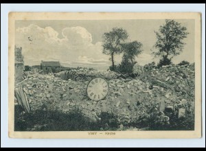 A9631/ Vimy Kirche zerstört 1.Weltkrieg AK Frankreich 1916