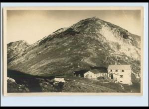 W8Z76/ Berghütte mit Oberrißkopf Sektion Weilheim-Murnau Foto AK ca.1935