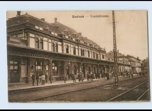 U6059/ Szolnok Vasutallomas Bahnhof Ungarn AK 1915